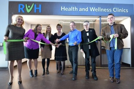 Photo of opening of RVH's clinics at the Rizzardo Health and Wellness Centre in Innisfil.