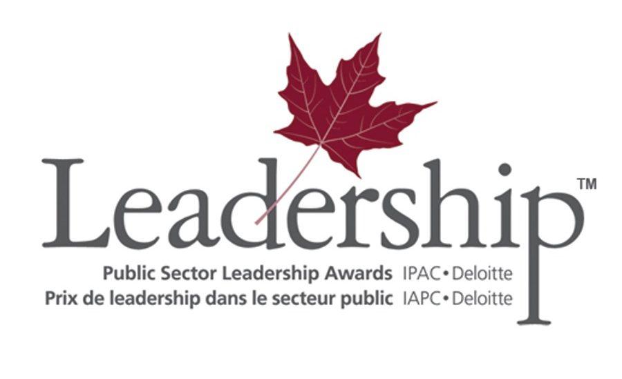 leadership logo. Maple leaf