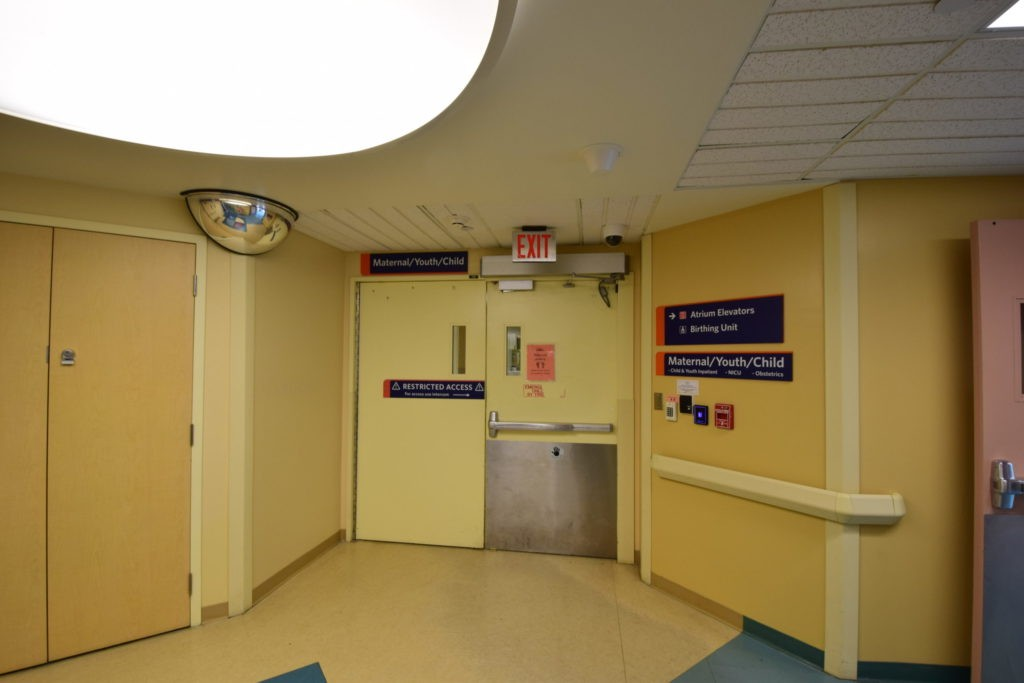 Maternal Child and Neonatal Intensive Care Unit entrance