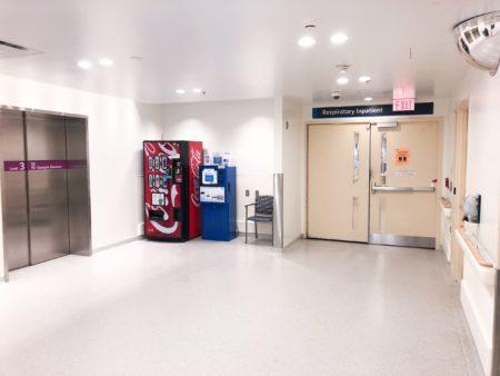 Respiratory Inpatient Unit entrance