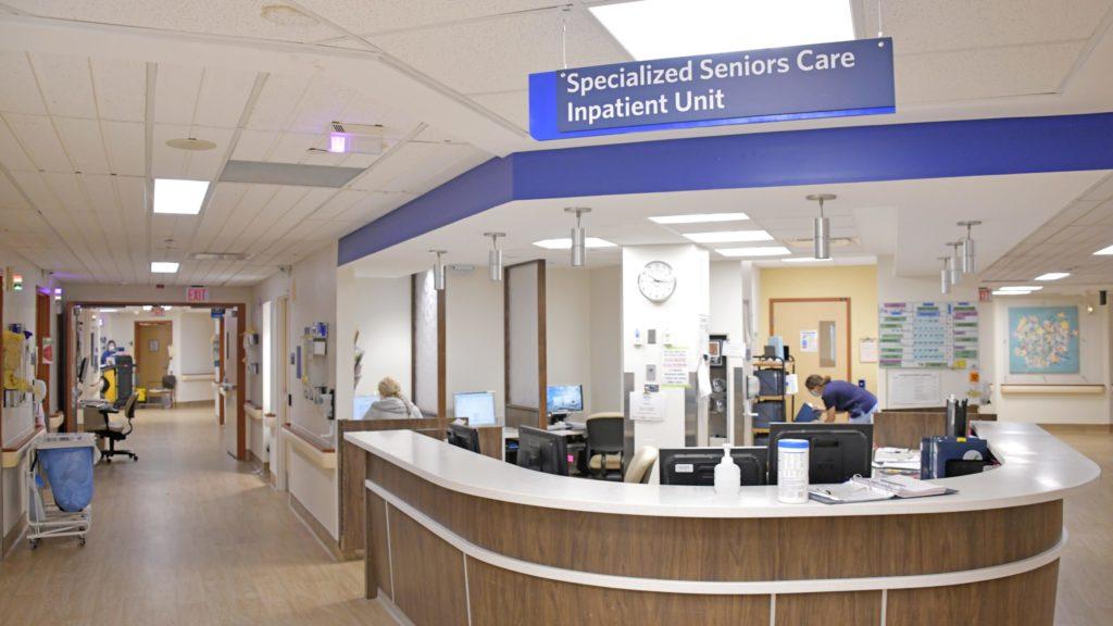 nursing station in special seniors care