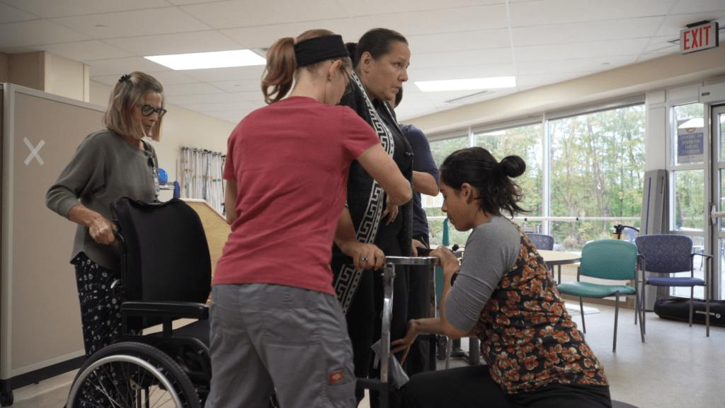 Stroke team in Rehab