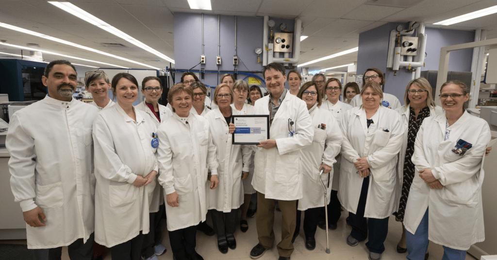 Lab team celebrates accreditation award